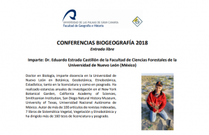 Conferencias Biogeografía 2018