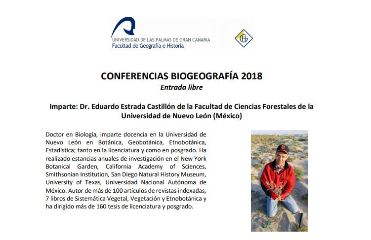 Conferencias Biogeografía 2018